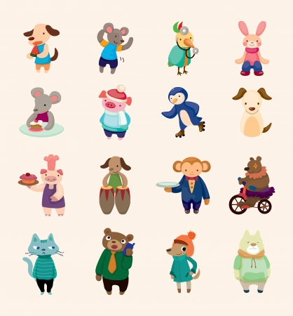 cat suit: set of animal icons