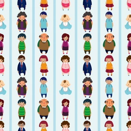 seamless family pattern Stock Vector - 16455718