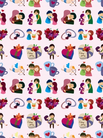 seamless Valentine's Day pattern  Vector