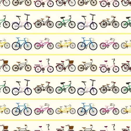 seamless bicycle pattern  Vector