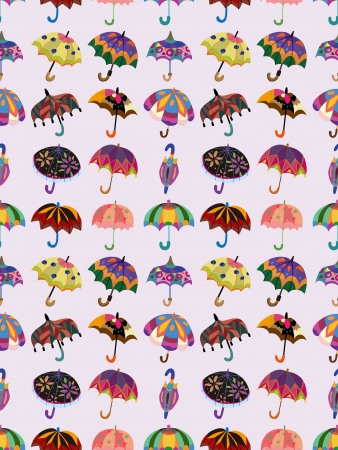 seamless umbrella pattern  Vector