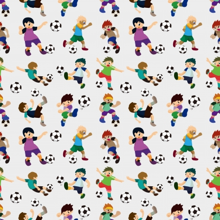 football kick: seamless soccer player pattern  Illustration