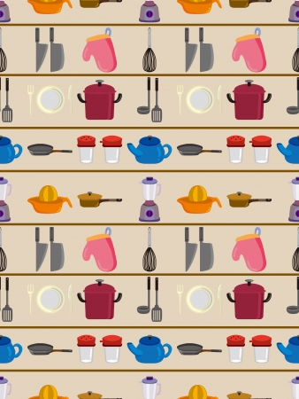 seamless kitchen pattern  Vector