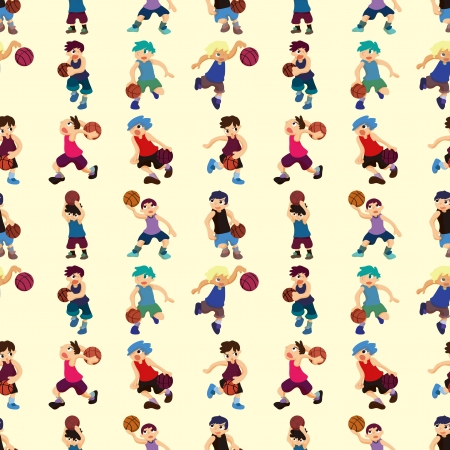 seamless basketball pattern  Vector