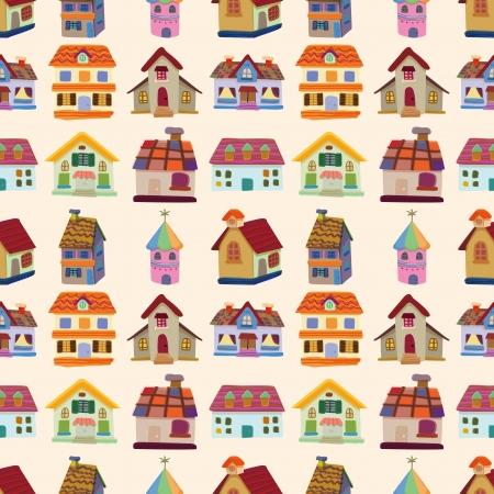 seamless house pattern  Illustration