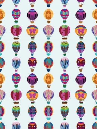 원활한 뜨거운 공기 풍선 패턴