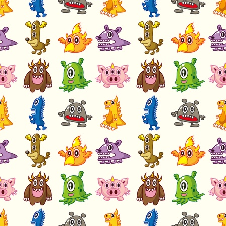 seamless monster pattern Stock Vector - 16469493