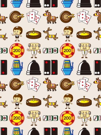 seamless Casino pattern  Vector