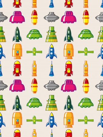 seamless spaceship pattern Stock Vector - 16503967