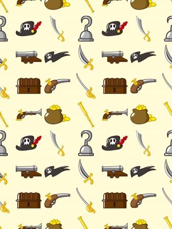 seamless pirate pattern Stock Vector - 16503969