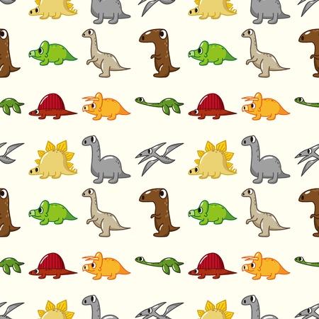 ascendant: seamless dinosaur pattern