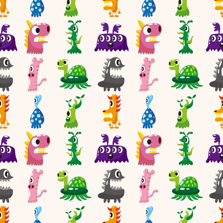 whimscal: seamless monster pattern