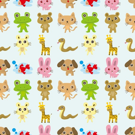seamless pattern animal,cartoon vector illustration Vector