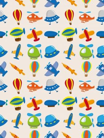illustration and cool: seamless airplane pattern,cartoon vector illustration