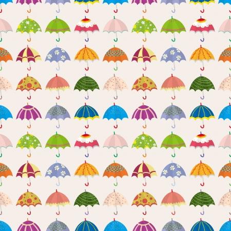 seamless umbrella pattern,cartoon vector illustration Stock Vector - 16643352