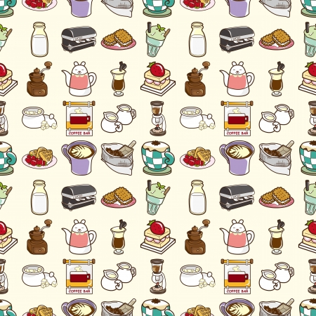 espreso: seamless coffee pattern,cartoon vector illustration