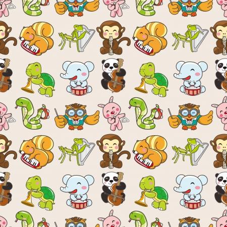 seamless animal pattern,cartoon vector illustration Stock Vector - 16673398