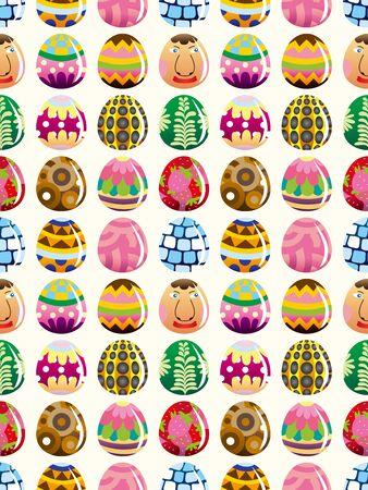 seamless Easter egg pattern,cartoon vector illustration Stock Vector - 16673403