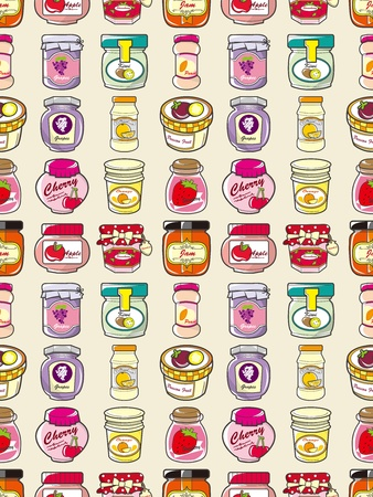 seamless jam pattern,cartoon vector illustration Vector