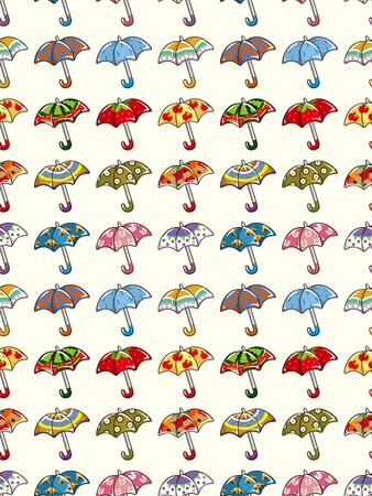 seamless umbrella pattern,cartoon vector illustration Vector