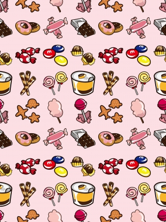 seamless candy pattern,cartoon vector illustration Vector