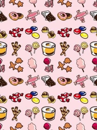 cotton candy: seamless candy pattern,cartoon vector illustration Illustration