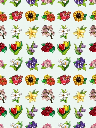 seamless flower pattern,cartoon illustration Stock Vector - 16754227