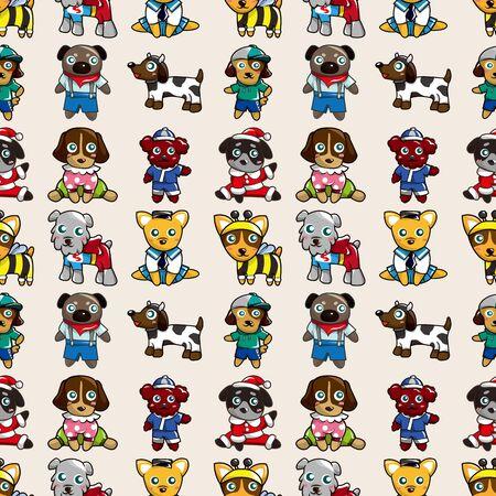 seamless dog pattern,cartoon illustration Stock Vector - 16754118