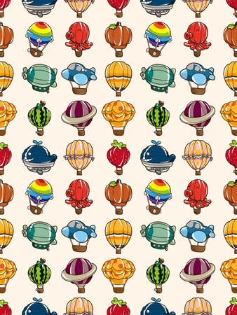seamless hot air balloon pattern,cartoon illustration Stock Vector - 16747916