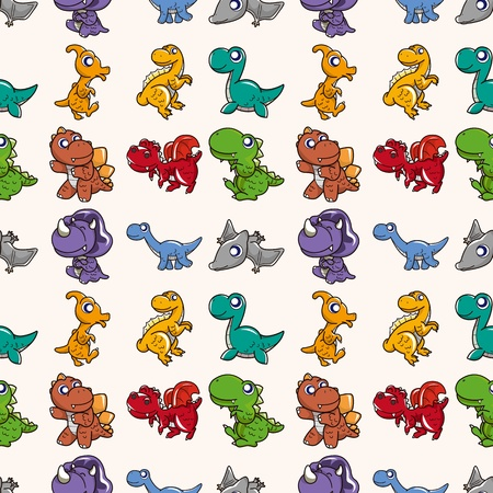 seamless Dinosaurs pattern,cartoon illustration Vector