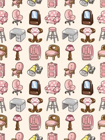 seamless furniture pattern,cartoon illustration Stock Vector - 16747922