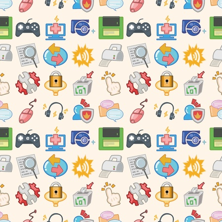 seamless web pattern,cartoon illustration Vector