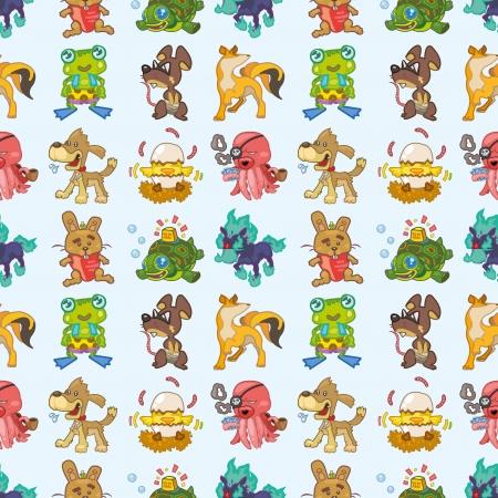 seamless animal pattern,cartoon illustration Stock Vector - 16754258