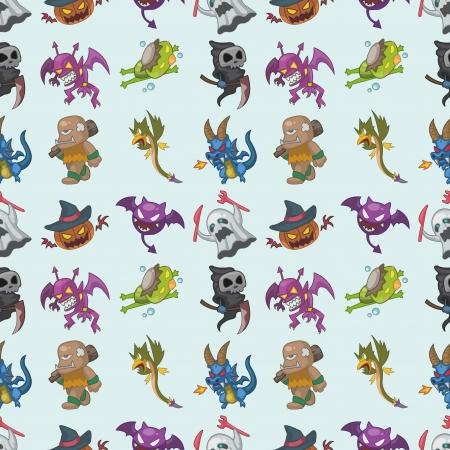 pattern monster: pattern di mostro senza soluzione di continuit�, illustrazione cartoon