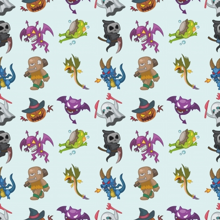 seamless monster pattern,cartoon illustration Stock Vector - 16754122