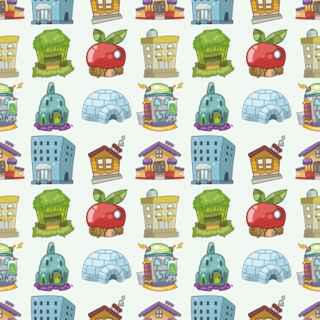 seamless house pattern,cartoon illustration Stock Vector - 16754148