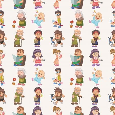 seamless family pattern,cartoon illustration Stock Vector - 16754194