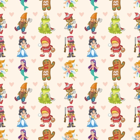 seamless story people pattern,cartoon illustration Vector