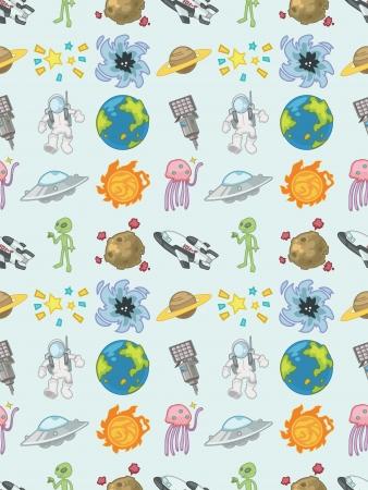 seamless Space pattern,cartoon vector illustration Stock Vector - 16747913