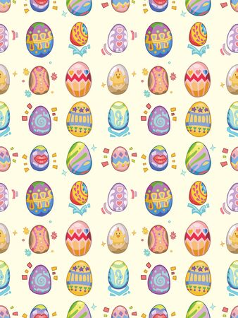 seamless Easter Egg pattern,cartoon illustration Stock Vector - 16754120