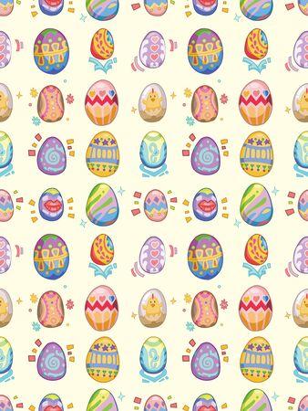 seamless Easter Egg pattern,cartoon illustration Stock Vector - 16754120