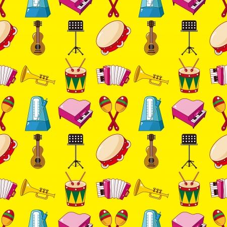 seamless music pattern Vector