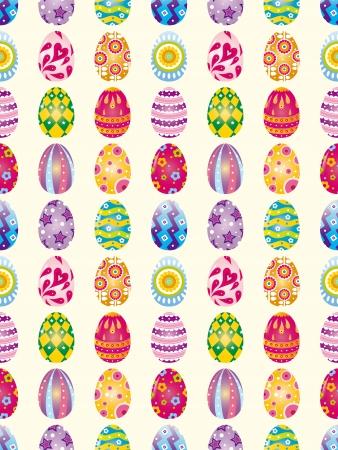 seamless Easter Egg pattern,cartoon vector illustration Stock Vector - 16925736