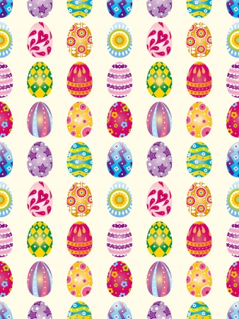 seamless Easter Egg pattern,cartoon vector illustration Stock Vector - 16925736