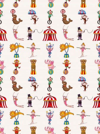 seamless circus pattern Stock Vector - 16963553