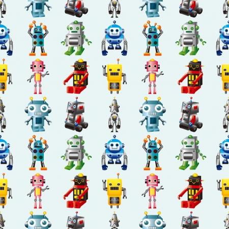 seamless Robot pattern,cartoon. Vector