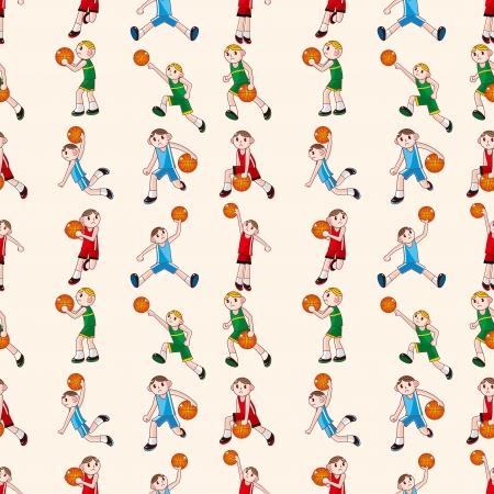 seamless basketball pattern  Vector