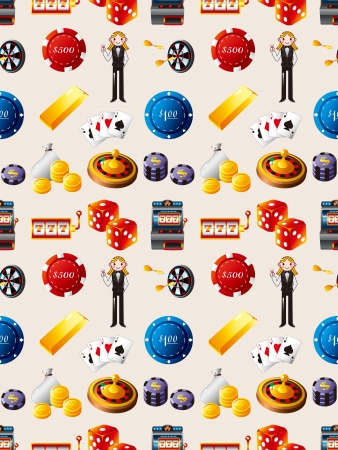 seamless casino pattern,cartoon vector illustration Stock Vector - 17033067