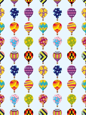 seamless hot air balloon pattern,cartoon vector illustration Vector