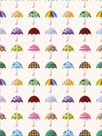seamless umbrella pattern,cartoon vector illustration Vector